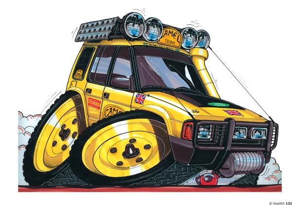 Land Rover Discovery UK 4X4 Jaune