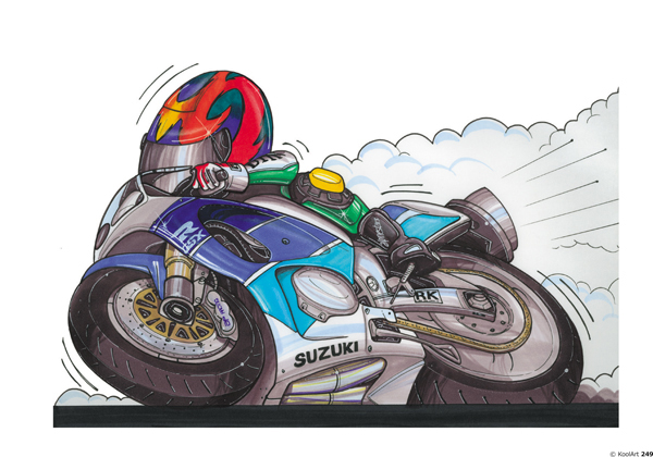 Suzuki GSXR Moto Blanche
