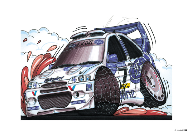 Ford Escort rallyeeee Blanche