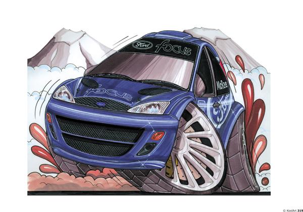 Ford Focus rallyeeee Bleue