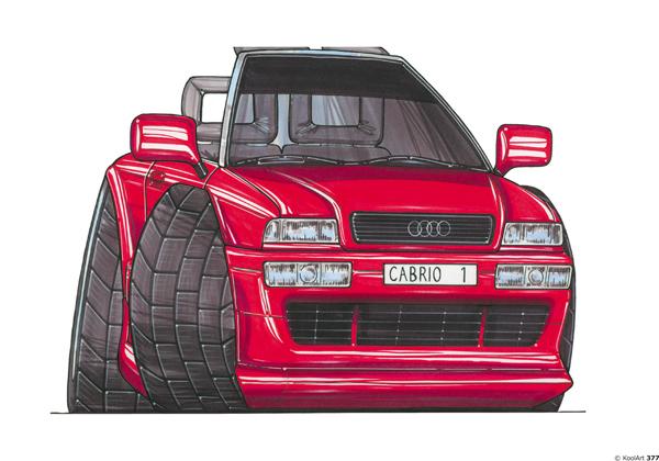 Audi 80 Cabriolet Rouge