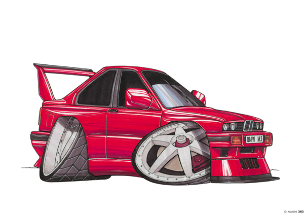 BMW E30 Tunning Rouge