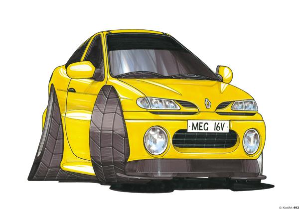 Renault Megane Jaune