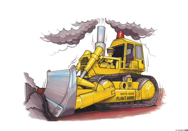 Bulldozer Travaux Jaune