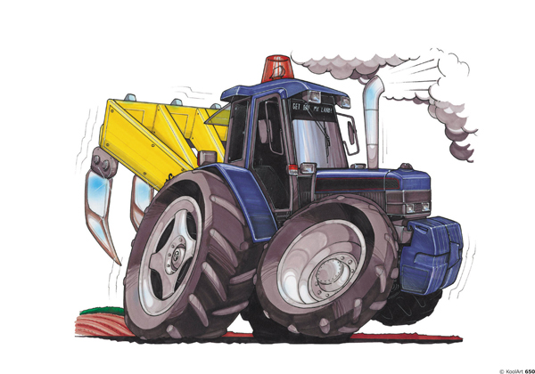 Tracteur Ford Bleu