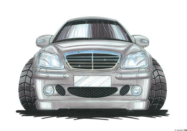 Mercedes 500 Face Grise