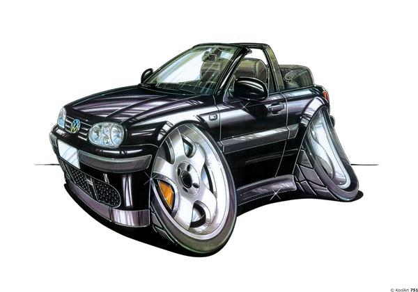 Volkswagen Golf Cabriolet Noire