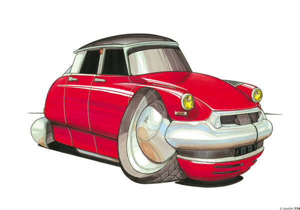 Citroen DS Vintage Rouge