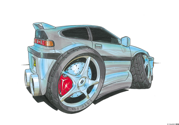 Honda Civic CRX Grise