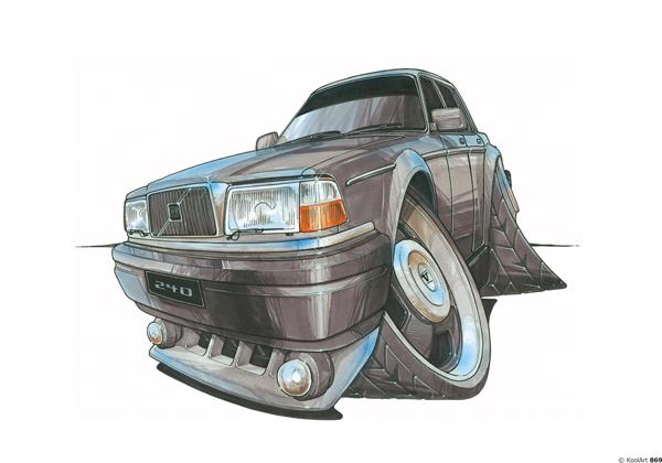 Volvo 240 Vintage Grise
