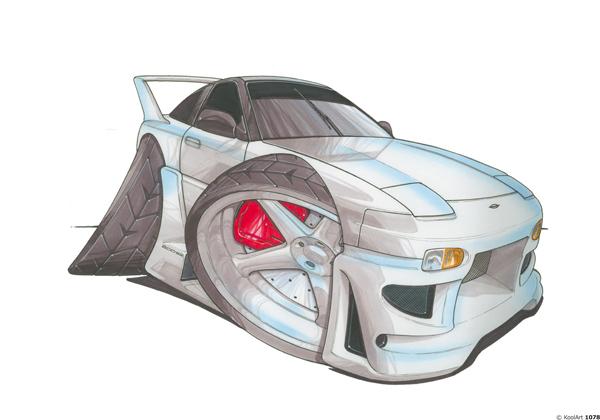 Nissan 200 SX Grise