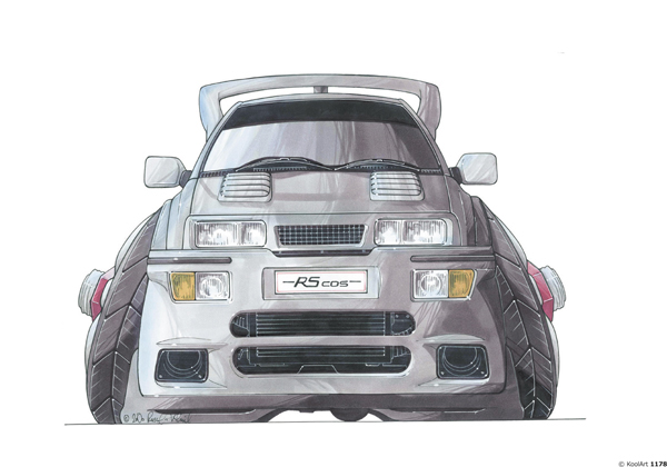 Ford Sierra Cosworth Grise