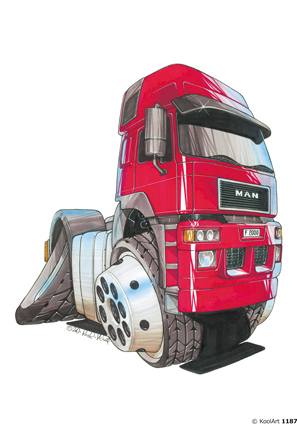 Camion MAN F2000 Rouge
