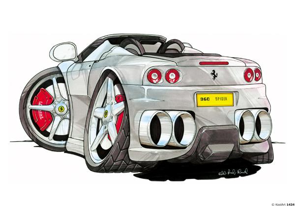 Ferrari 360 Spider Grise