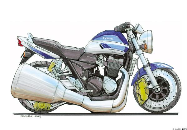 Suzuki GSX Bleue