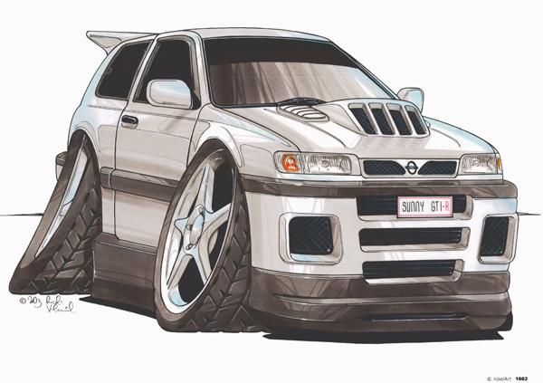 Nissan Sunny GTI-R Grise