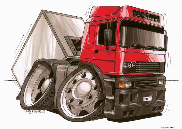 Camion Benne ERF Rouge