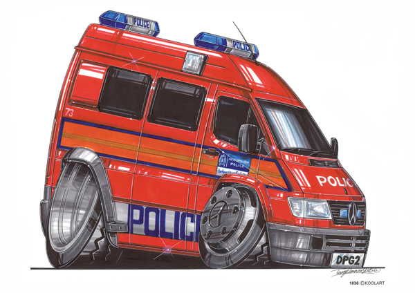 Fourgon Police Rouge