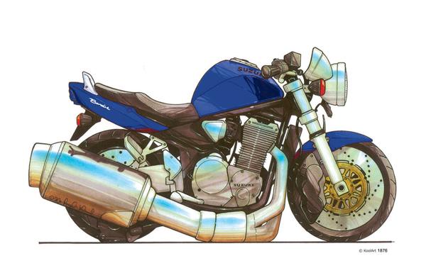Suzuki Bandit Bleue