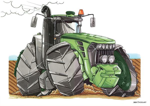 Tracteur John Deere Vert