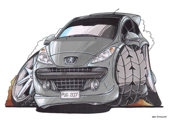 Peugeot 207 Grise