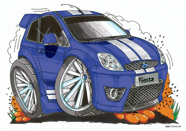 Ford Fiesta ST Bleue