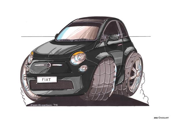 Fiat 500 Noire