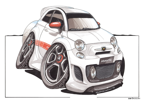 Fiat 500 Abarth Blanche