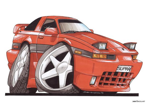 Toyota Supra Orange