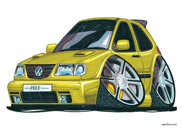 VW Polo Jaune