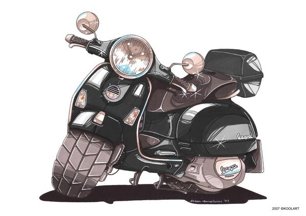 Scooter Vespa GT Noir