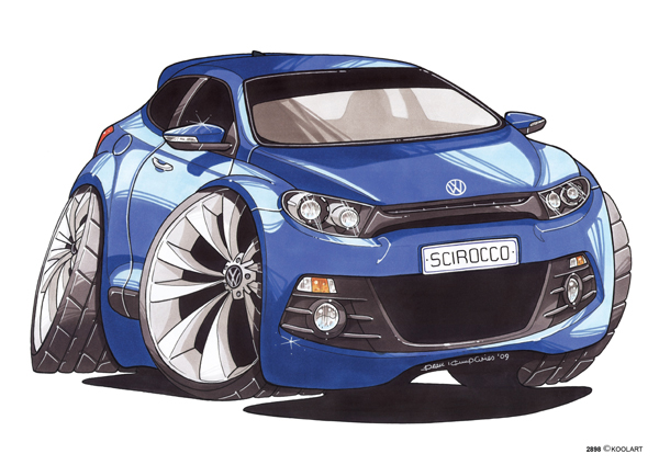 Volkswagen Scirroco Bleu