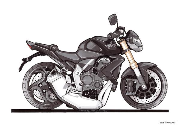 Honda CB 1000 R Noire