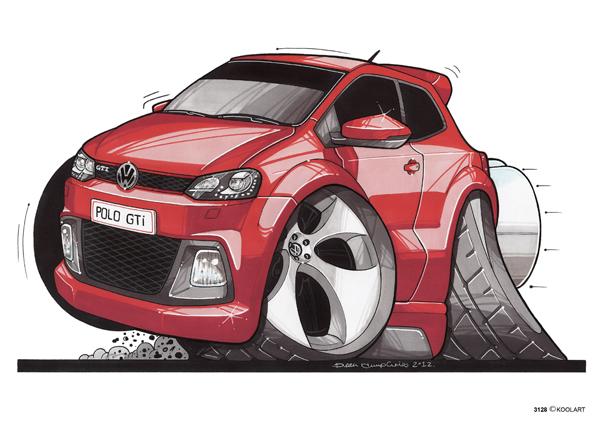VW Polo GTI Rouge