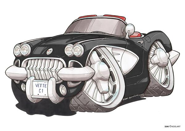 Chevrolet Corvette C1 Noire