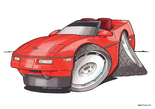 Corvette C4 Cabriolet Rouge