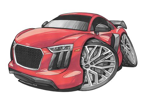 Audi R8 Face Rouge