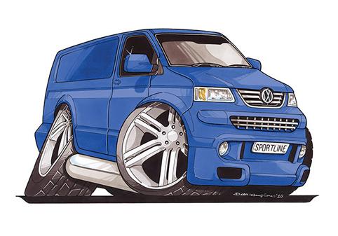 VW Transporter T5 Bleu