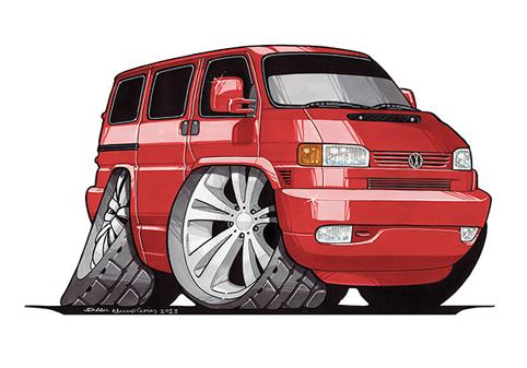 VW Transporter T4 Rouge