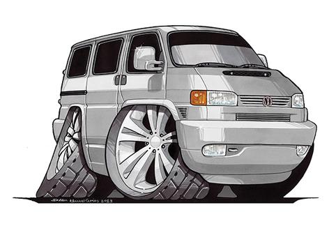VW Transporter T4 Gris