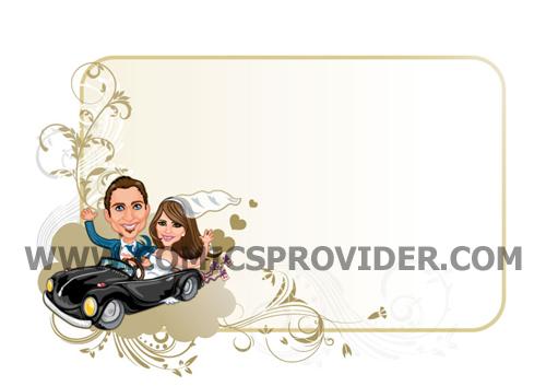 partecipazioni ready sposi in macchina