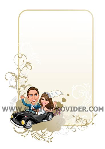sposi in macchina formato verticale
