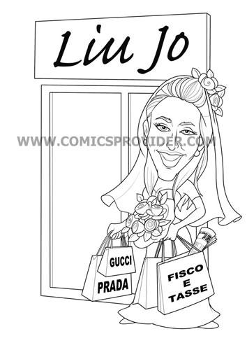 Sposa con la passione per lo shopping