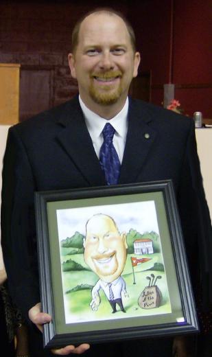 retirement caricature happy