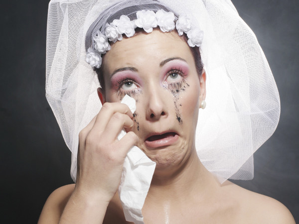 Crying bride