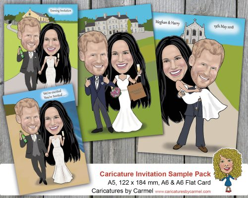 Caricature wedding invitations