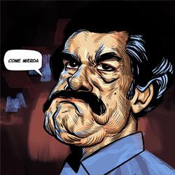 Pablo Escobar Narcos Caricature