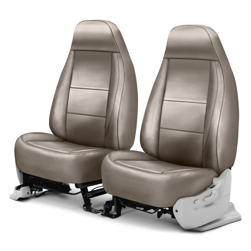 Coverking® Cscq6fd7042  Leatherette 1st Row Taupe Custom