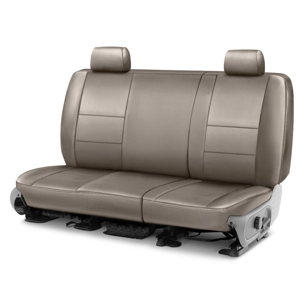 Coverking® Cscq6ch9669  Leatherette 2nd Row Taupe Custom
