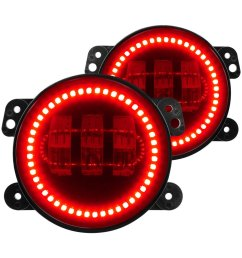 lighting jeep wrangler 2013 offroad high powered led fog lights [ 1000 x 1000 Pixel ]